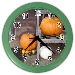 Pumpkins And Gourds Color Wall Clocks