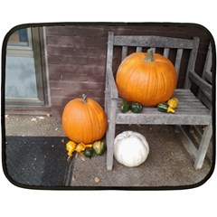 Pumpkins And Gourds Double Sided Fleece Blanket (Mini)