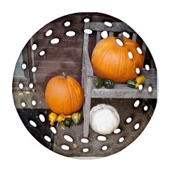 Pumpkins And Gourds Ornament (Round Filigree)