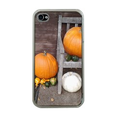 Pumpkins And Gourds Apple iPhone 4 Case (Clear)