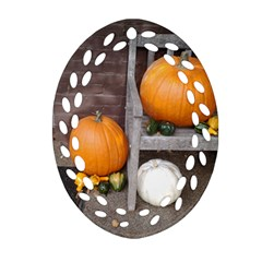 Pumpkins And Gourds Oval Filigree Ornament (Two Sides)