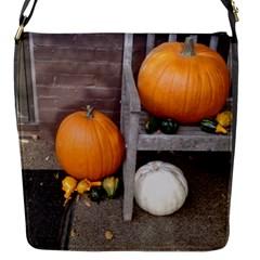 Pumpkins And Gourds Flap Messenger Bag (S)