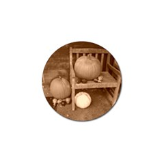 Pumpkins And Gourds Sepia Golf Ball Marker (4 pack)
