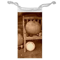 Pumpkins And Gourds Sepia Jewelry Bag