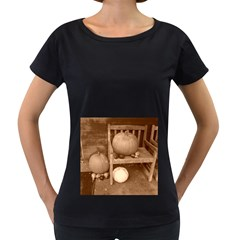 Pumpkins And Gourds Sepia Women s Loose Fit T Shirt (black)