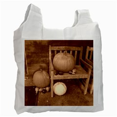 Pumpkins And Gourds Sepia Recycle Bag (Two Side)
