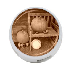 Pumpkins And Gourds Sepia 4-Port USB Hub (Two Sides)