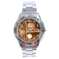 Pumpkins And Gourds Sepia Stainless Steel Analogue Watch