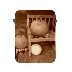 Pumpkins And Gourds Sepia Apple iPad 2/3/4 Protective Soft Cases