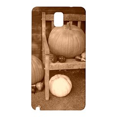 Pumpkins And Gourds Sepia Samsung Galaxy Note 3 N9005 Hardshell Back Case