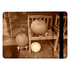 Pumpkins And Gourds Sepia Samsung Galaxy Tab Pro 12.2  Flip Case