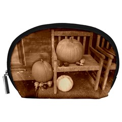 Pumpkins And Gourds Sepia Accessory Pouches (Large)