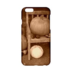Pumpkins And Gourds Sepia Apple iPhone 6/6S Hardshell Case