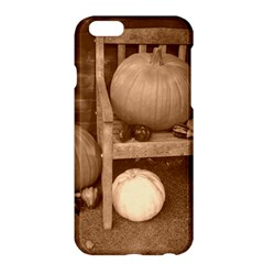 Pumpkins And Gourds Sepia Apple iPhone 6 Plus/6S Plus Hardshell Case