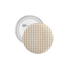 Christmas Gold Large Gingham Check Plaid Pattern 1 75  Buttons