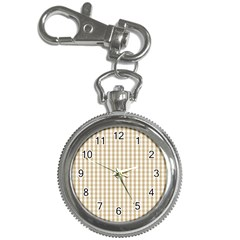 Christmas Gold Large Gingham Check Plaid Pattern Key Chain Watches