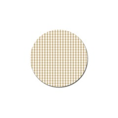 Christmas Gold Large Gingham Check Plaid Pattern Golf Ball Marker (4 pack)