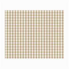 Christmas Gold Large Gingham Check Plaid Pattern Small Glasses Cloth