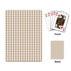 Christmas Gold Large Gingham Check Plaid Pattern Playing Card