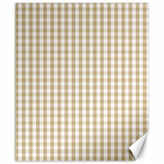 Christmas Gold Large Gingham Check Plaid Pattern Canvas 8  x 10