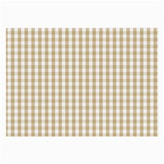 Christmas Gold Large Gingham Check Plaid Pattern Large Glasses Cloth (2-Side)