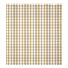 Christmas Gold Large Gingham Check Plaid Pattern Shower Curtain 66  x 72  (Large)