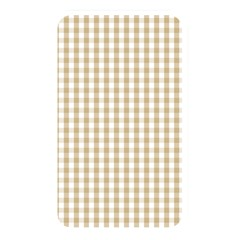 Christmas Gold Large Gingham Check Plaid Pattern Memory Card Reader