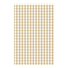 Christmas Gold Large Gingham Check Plaid Pattern Shower Curtain 48  x 72  (Small)