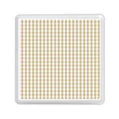 Christmas Gold Large Gingham Check Plaid Pattern Memory Card Reader (Square)