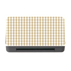 Christmas Gold Large Gingham Check Plaid Pattern Memory Card Reader with CF