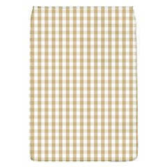 Christmas Gold Large Gingham Check Plaid Pattern Flap Covers (L)