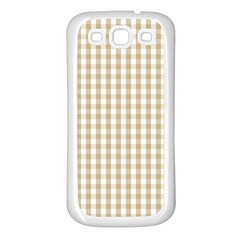 Christmas Gold Large Gingham Check Plaid Pattern Samsung Galaxy S3 Back Case (white)