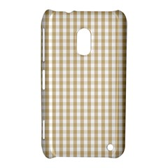 Christmas Gold Large Gingham Check Plaid Pattern Nokia Lumia 620