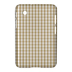 Christmas Gold Large Gingham Check Plaid Pattern Samsung Galaxy Tab 2 (7 ) P3100 Hardshell Case