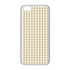 Christmas Gold Large Gingham Check Plaid Pattern Apple iPhone 5C Seamless Case (White)