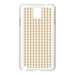 Christmas Gold Large Gingham Check Plaid Pattern Samsung Galaxy Note 3 N9005 Case (White)