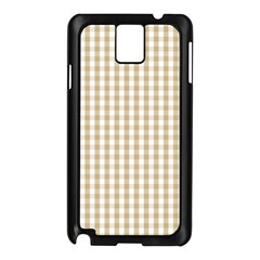 Christmas Gold Large Gingham Check Plaid Pattern Samsung Galaxy Note 3 N9005 Case (Black)