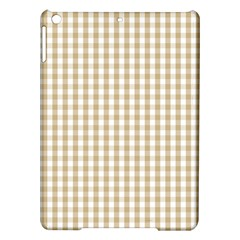 Christmas Gold Large Gingham Check Plaid Pattern Ipad Air Hardshell Cases