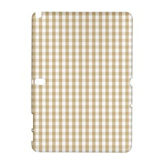 Christmas Gold Large Gingham Check Plaid Pattern Galaxy Note 1