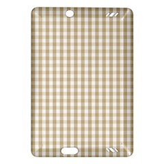 Christmas Gold Large Gingham Check Plaid Pattern Amazon Kindle Fire Hd (2013) Hardshell Case