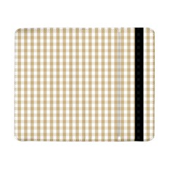 Christmas Gold Large Gingham Check Plaid Pattern Samsung Galaxy Tab Pro 8.4  Flip Case