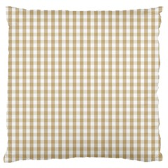 Christmas Gold Large Gingham Check Plaid Pattern Standard Flano Cushion Case (Two Sides)
