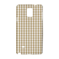 Christmas Gold Large Gingham Check Plaid Pattern Samsung Galaxy Note 4 Hardshell Case