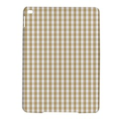 Christmas Gold Large Gingham Check Plaid Pattern iPad Air 2 Hardshell Cases