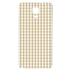Christmas Gold Large Gingham Check Plaid Pattern Galaxy Note 4 Back Case