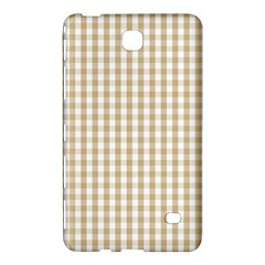 Christmas Gold Large Gingham Check Plaid Pattern Samsung Galaxy Tab 4 (7 ) Hardshell Case