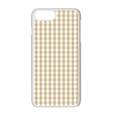 Christmas Gold Large Gingham Check Plaid Pattern Apple iPhone 7 Plus White Seamless Case