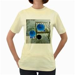 Pumpkins And Gourds Negative Women s Yellow T-Shirt