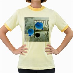 Pumpkins And Gourds Negative Women s Fitted Ringer T-Shirts