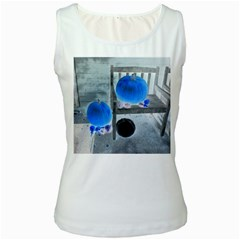 Pumpkins And Gourds Negative Women s White Tank Top